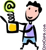E-mail concept Vector Clip Art picture