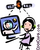 Vector Clip Art image  of a Communication Concepts