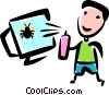 Vector Clipart picture  of a Computer Viruses