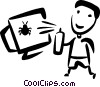 Vector Clip Art graphic  of a Computer Viruses