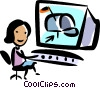Vector Clipart illustration  of a E-mail