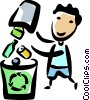 Man recycling Vector Clip Art picture