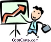 Businessman giving a presentation Vector Clipart illustration