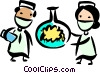 Medical Researchers Vector Clipart illustration