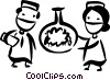 Vector Clip Art image  of a Medical Research