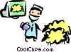 Medical Researchers Vector Clip Art picture