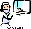 Medical Researcher Vector Clip Art image