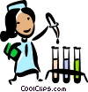 Medical Researcher Vector Clip Art graphic