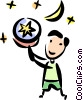 Vector Clipart illustration  of a Stars