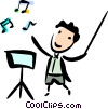 Orchestra Conductor Vector Clip Art graphic