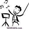 Vector Clipart image  of a Orchestra Conductors