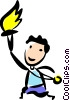 Vector Clipart graphic  of a Olympic Torches