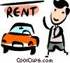 Car salesman Vector Clipart illustration