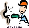 Vector Clipart picture  of a Trades People