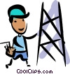 Vector Clipart illustration  of a Trades People