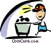 Coal miner Vector Clip Art picture