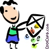 Vector Clipart picture  of a Digital Data