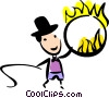 Performers and Circus Acts Vector Clip Art graphic