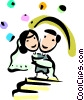 Bride and Groom Vector Clip Art picture