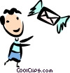 Vector Clipart illustration  of an Airmail
