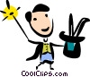 Vector Clipart illustration  of a Magicians