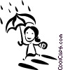 Vector Clip Art graphic  of a Rain