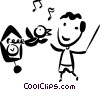 Vector Clip Art graphic  of a Cookoo Clocks