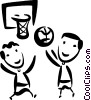 Basketball Players Vector Clip Art image