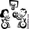 Vector Clip Art image  of a People with Disabilities