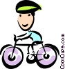 Vector Clipart illustration  of a Cyclists