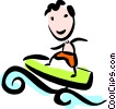 Boy Surfing Vector Clipart illustration