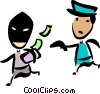 Cops and robbers Vector Clipart picture
