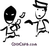 Vector Clipart graphic  of a Crime