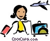 Vector Clipart picture  of a Pilots