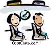 People in airplane Vector Clipart picture