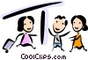 Passengers in the terminal Vector Clip Art picture