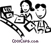 Vector Clipart illustration  of a Passengers