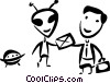 Vector Clipart picture  of an Alien