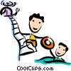 Vector Clip Art image  of a Rescue and Safety