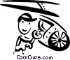 Vector Clipart picture  of an Auto Mechanics