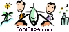 Vector Clip Art image  of a Passengers