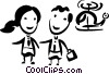 Vector Clipart picture  of a Passengers