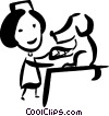 Vector Clip Art image  of a Veterinarian