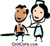 Nurse with Patient Vector Clip Art image