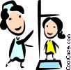 Nurse with Patient Vector Clipart graphic