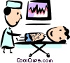 Doctor with Patient Vector Clipart illustration