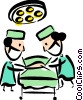 Doctors in Surgery Vector Clip Art graphic