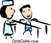 Vector Clipart picture  of a Physiotherapy