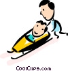 Bobsledding Vector Clipart illustration