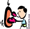 Boxer hitting the heavy bag Vector Clipart picture